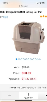 Brand new easy to clean sifting cat litter box - bought two only needed one Fort Collins, 80521
