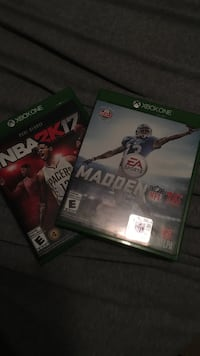 two Xbox One Nba 2k17 and Madden NFL 16