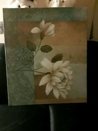 white petaled flower painting with black wooden frame Shepherdsville, 40165