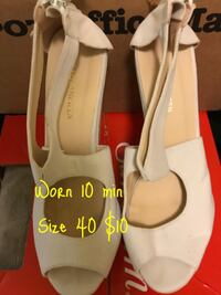 pair of white leather heeled shoes Medical Lake, 99011
