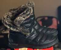 The North Face Women's Micro-Baffle Bootie II Winter Boots - Black *Slightly Used* - US Size 10 Mississauga, L5B 1J7