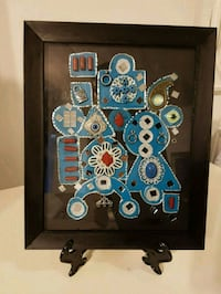 black and blue wooden wall decor Laval, H7P 5K8