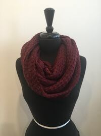 Brand new burgundy eternity scarf