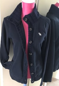 Abercrombie And Fitch Women's n's Button Up Front Cardigan Sweater Sweatshirt Coat Size L 41 km