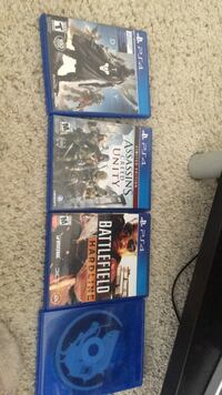4 PS4 games Arlington, 22201