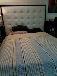 White leather bed frame Vienna, 22182