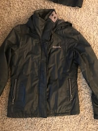 Lined Ladies Black fall coat medium