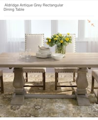 Antique grey Aldridge farmhouse dining table & bench