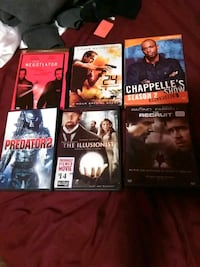 six assorted DVD movie cases Houma, 70363