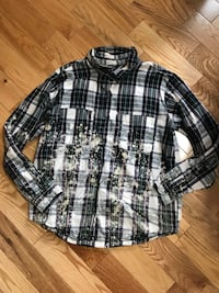 black and white plaid dress shirt Russell, K0A 1W0