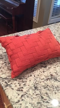 Two decorative pillows with inserts from Bed Bath and Beyond (burnt orange)  Newport, 28570