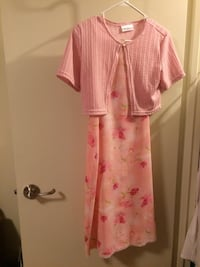 Pink Flowered dress with matching shawl London, N6H