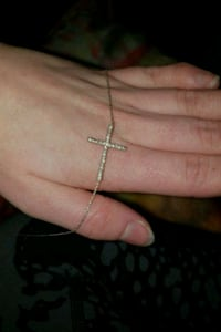 silver chain link necklace with cross Edmonton, T5L 3T4