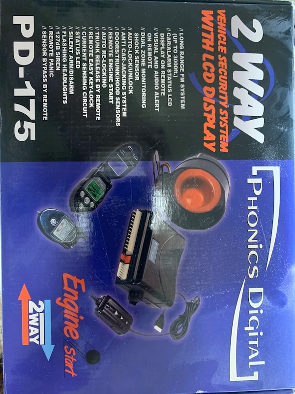 Phonics Digital 2 Way Vehicle Security with LCD