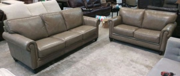 Outstanding Martha Stewart Bradyn 2Pc Leather Sofa Set Lamtechconsult Wood Chair Design Ideas Lamtechconsultcom