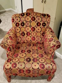 brown and red floral sofa chair Bowie, 20720