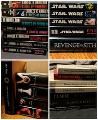 Books-Twilight, Star Wars, Meredith Gentry, poetry Vaughan, L4H