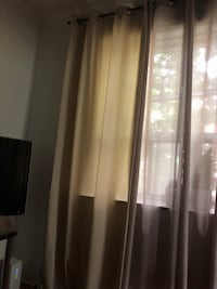 "IKEA cream coloured drapes. About 94/95"" in length. Toronto, M6C 2X7"