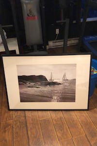 Sailboat picture with frame
