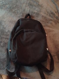black and gray leather backpack Enid, 73701