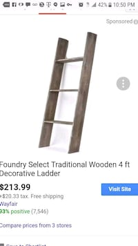 Beautiful decorative wooden ladder with shelves  Los Angeles, 90002