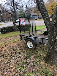 black and gray utility trailer Versailles, 40383