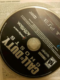 Call of Duty ghosts PS3 game disc Toronto, M1P 3J2