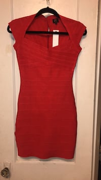 women's red cap-sleeved mini dress Arlington, 22203