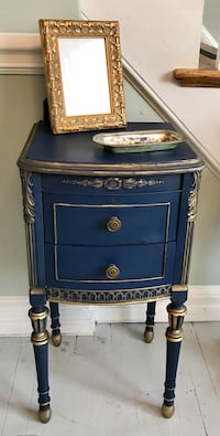 Exquisite blue and gold french end table nightstand  Kensington, 20895