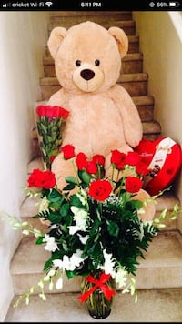 Life size teddy bear for valentines day Las Vegas, 89113