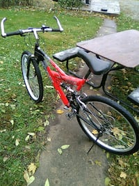 red and black full-suspension bike Elwood, 46036