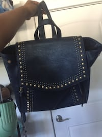 black leather studded crossbody bag Surrey