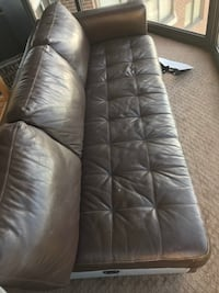 Brown leather couch Arlington, 22209