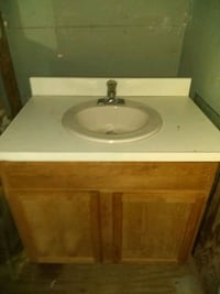 Brand new bathroom sink counter and cabinet