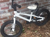 white and black BMX bike null