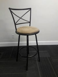 30-inch tall swivel stool with back
