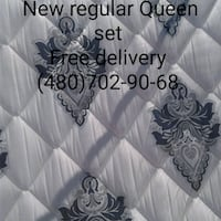 Brand new regular Queen set mattress  Phoenix, 85034