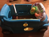 Fisher-Price Laugh & Learn Crawl Around Car, Blue - English Edition Vaughan, L6A 3K6