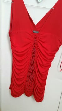red spaghetti strap mini dress Toronto, M1E 2V8