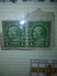 two 1 cent postage stamps Huntsville, 35810