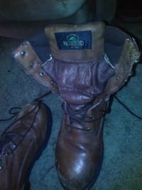 pair of brown leather boots Swanton, 43558