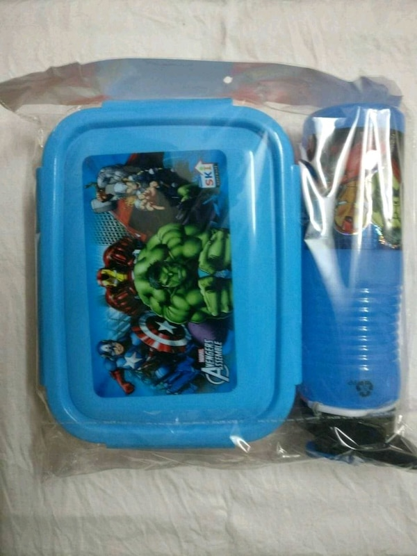 blue and white plastic toy