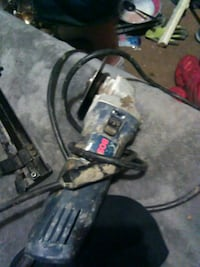 blue and black Bosch angle grinder