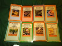 8 small cookbooks all in their own case Maryland, 21207