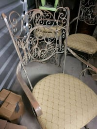 two gray metal framed padded chairs New Rochelle, 10803
