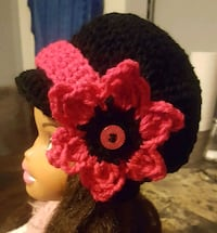 red and black crochet doll Donna, 78537