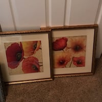 PAIR FRAMED POPPIES WITH GLASS Las Vegas, 89141
