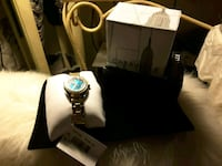 New CARAVELLE ladies Teal Face Studded Bezel $55 Ladson, 29456