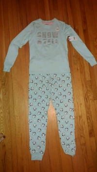 white and gray polka dot footie pajama Montreal, H8T