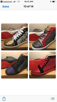 four assorted pairs of high-top sneakers collage screenshot 239 mi